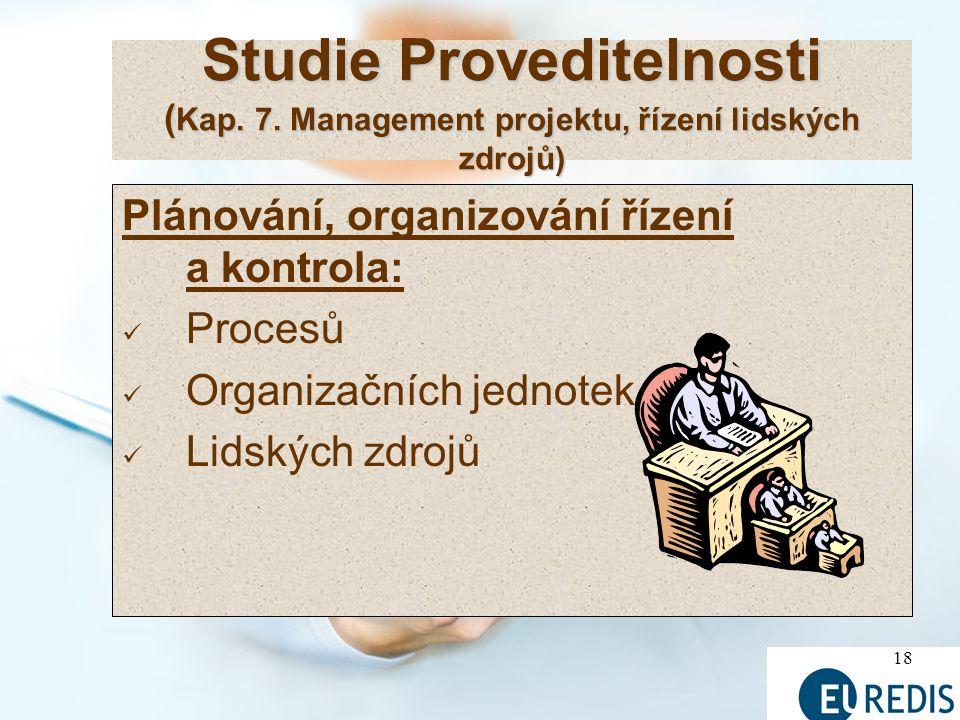 18 Studie Proveditelnosti ( Kap.7.