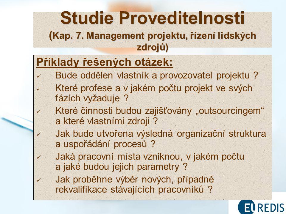19 Studie Proveditelnosti ( Kap.7.
