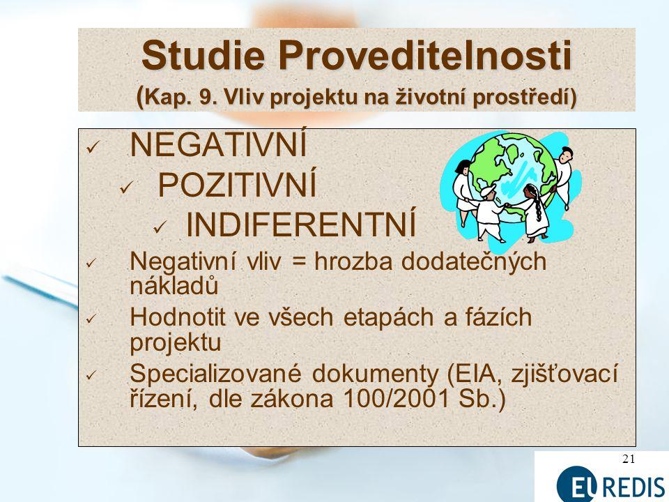 21 Studie Proveditelnosti ( Kap.9.