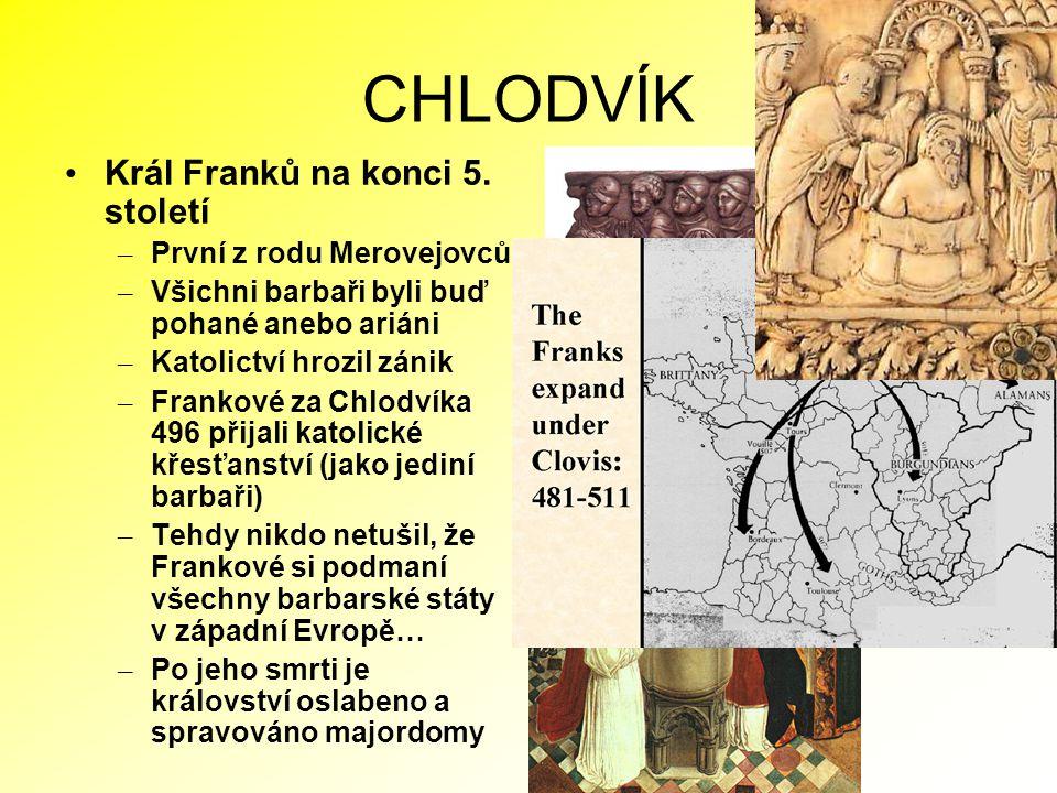 Evropa po Chlodvíkově smrti 511 po Kr.