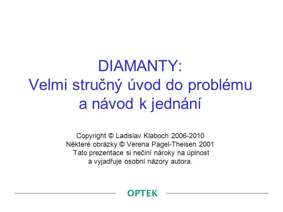 DIAMANTY: Velmi stručný úvod do problému a návod k jednání Copyright © Ladislav Klaboch 2006-2010 Některé obrázky © Verena Pagel-Theisen 2001 Tato pre