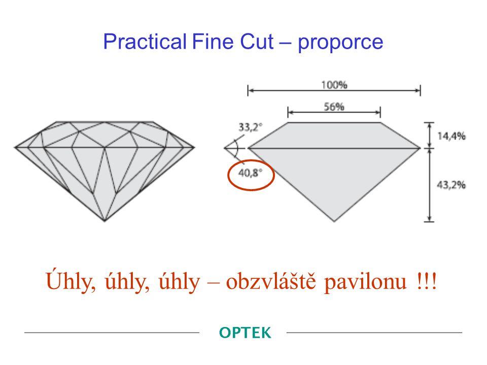 Practical Fine Cut – proporce Úhly, úhly, úhly – obzvláště pavilonu !!!