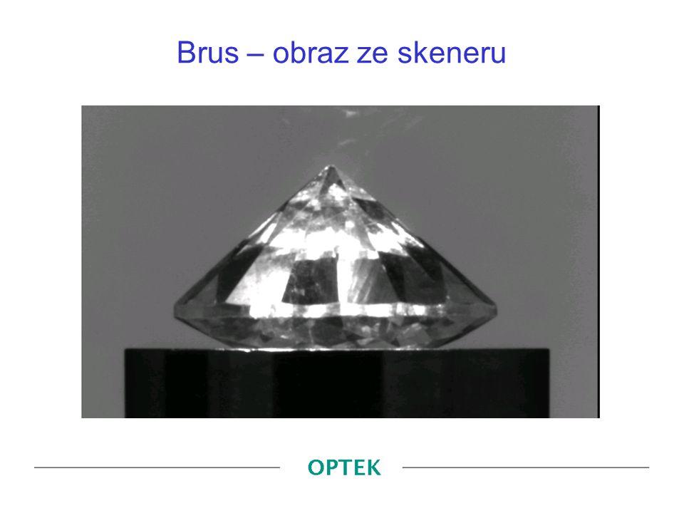Brus – obraz ze skeneru