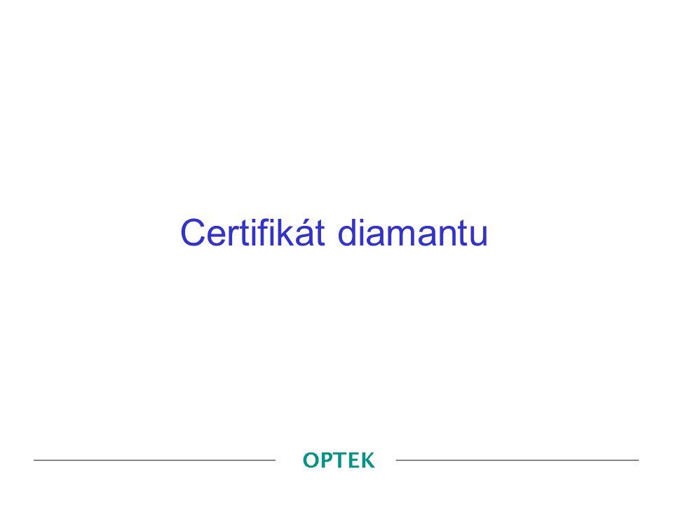 Certifikát diamantu