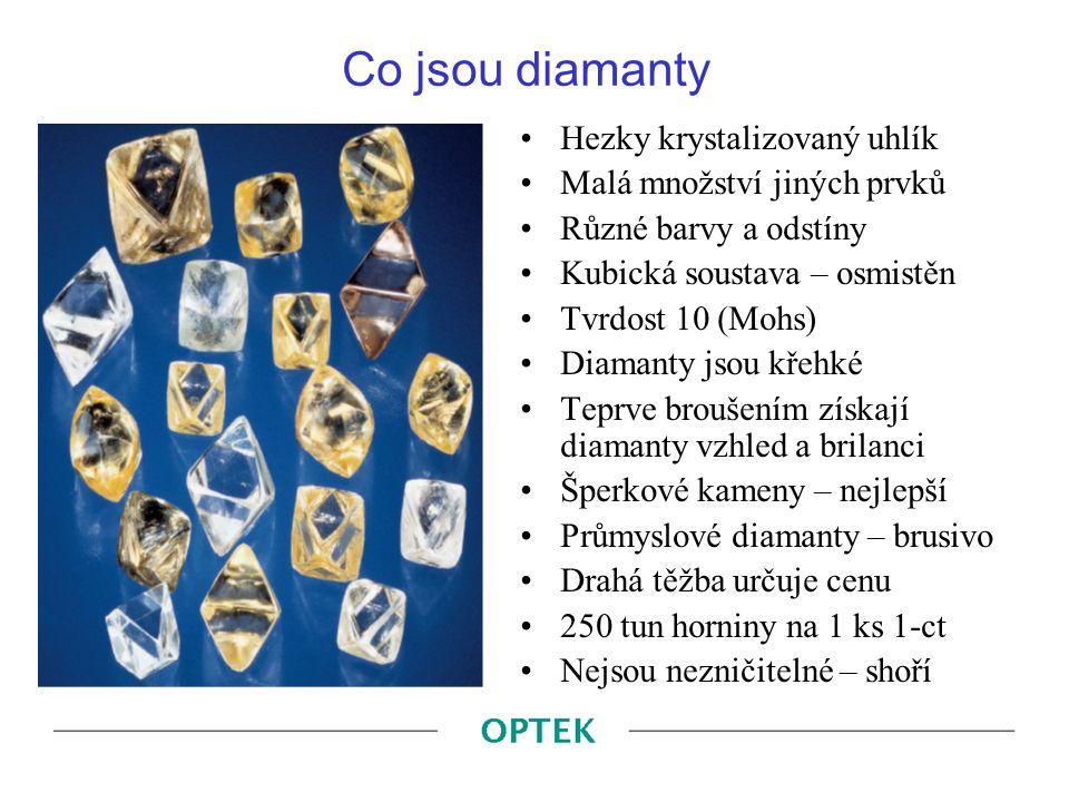 Úpravy barev diamantů HPHT – zabarví diamant žlutozeleně (viz obr.)  Fancy barva může být dražší GE POL – z horšího udělá bělejší.