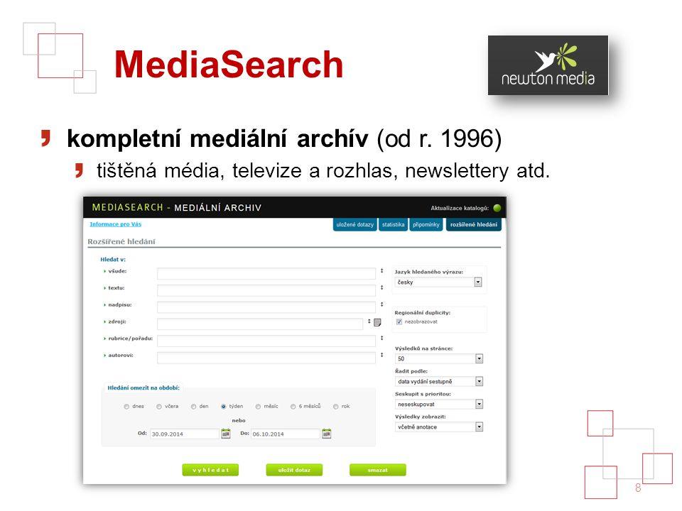 MediaSearch kompletní mediální archív (od r.