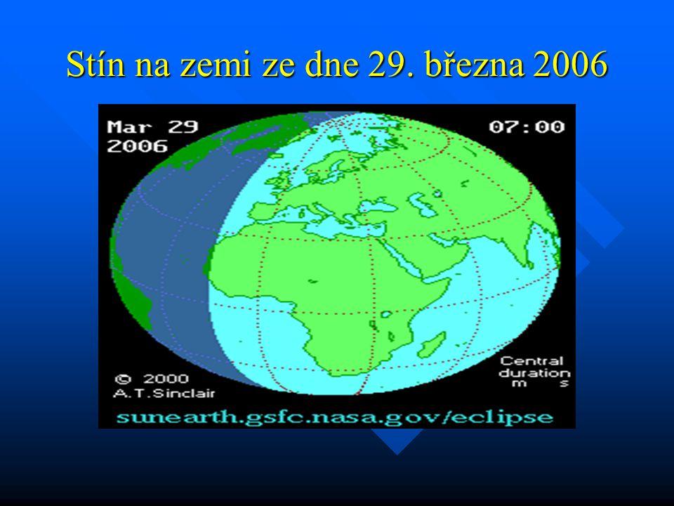 Stín a polostín na zemi