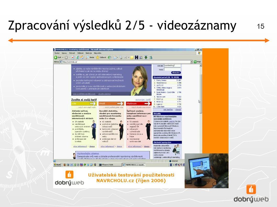 15 Zpracování výsledků 2/5 - videozáznamy