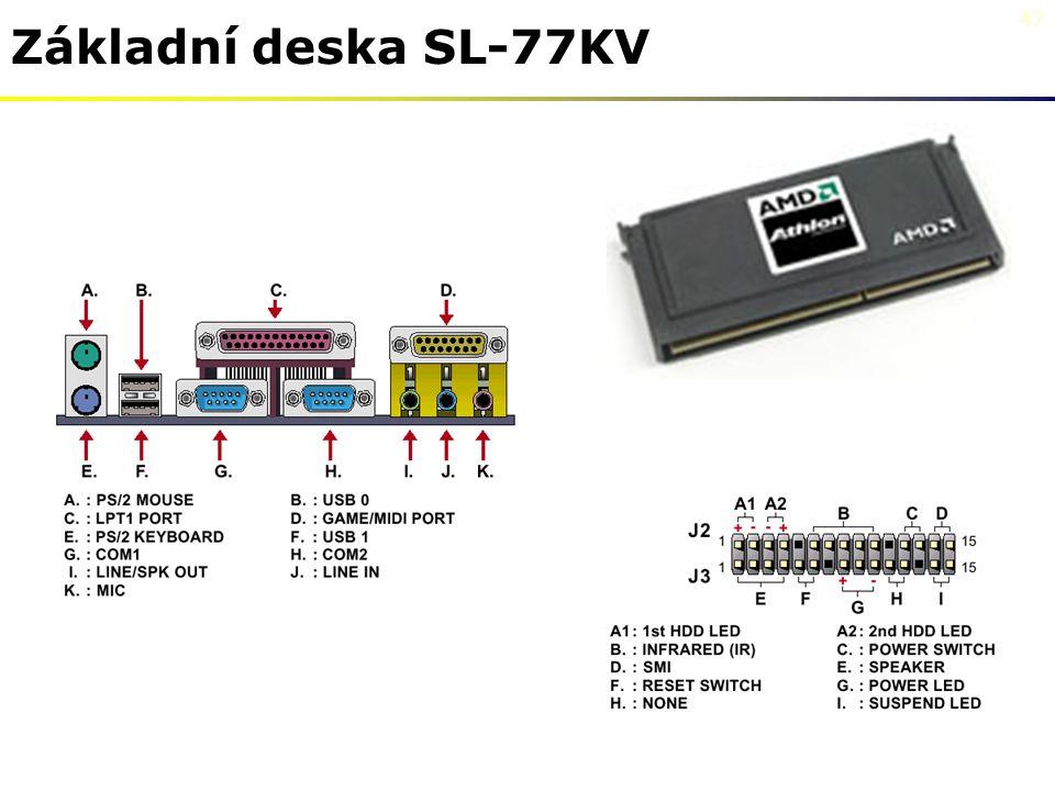 47 Základní deska SL-77KV