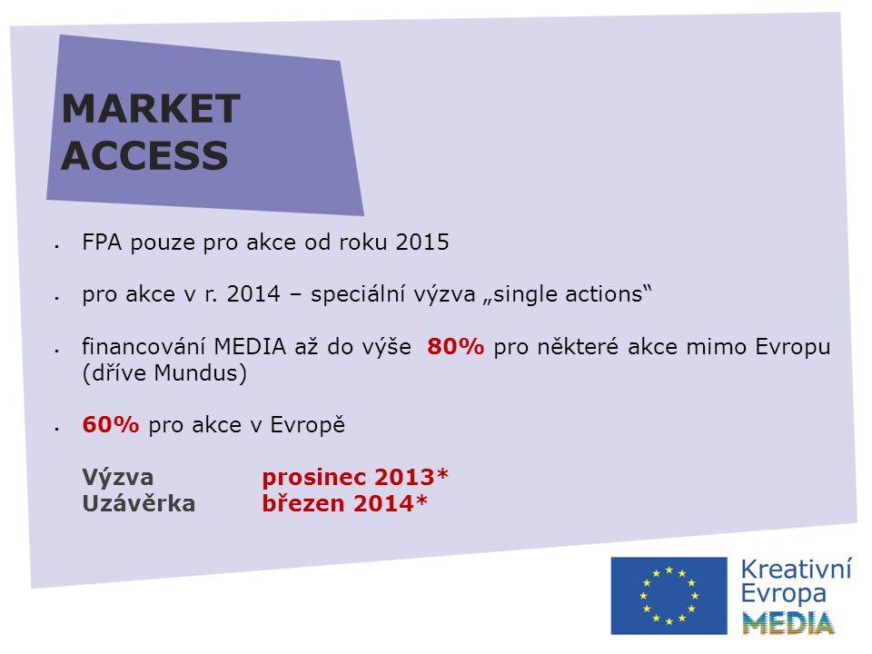 MARKET ACCESS  FPA pouze pro akce od roku 2015  pro akce v r.