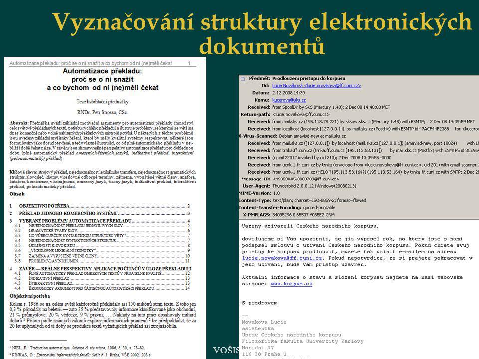 18 Vyznačování struktury elektronických dokumentů