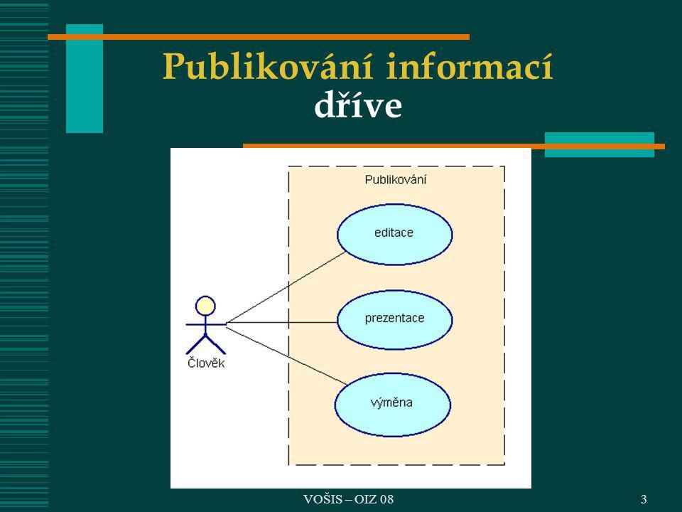 VOŠIS – OIZ 083 Publikování informací dříve