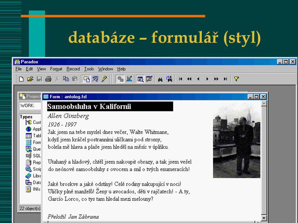 VOŠIS – OIZ 0832VOŠIS - ZIZ 632 databáze – formulář (styl)