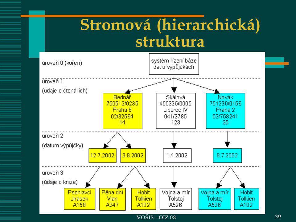 39 Stromová (hierarchická) struktura 39 VOŠIS – OIZ 08