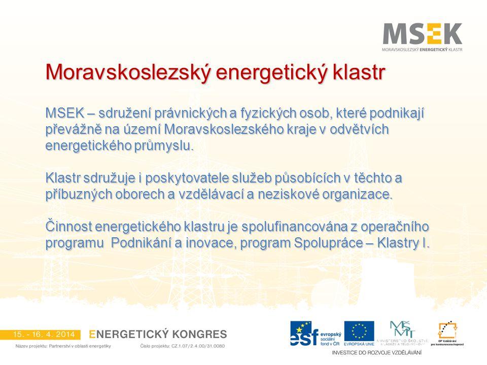 Energeticky nezávislý kraj Cíle projektu: zmapovat zdroje energií v MSK zmapovat zdroje energií v MSK zmapovat současnou a budoucí energetickou spotřebu zmapovat současnou a budoucí energetickou spotřebu identifikovat silné a slabé stránky energetického hospodářství kraje identifikovat silné a slabé stránky energetického hospodářství kraje navrhnout novou energetickou koncepci s ohledem na budoucí rozvoj navrhnout novou energetickou koncepci s ohledem na budoucí rozvoj