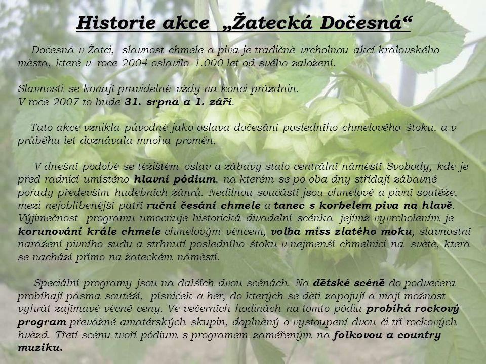 Na Žatecké Dočesné se představují pivovary z celé České republiky, ale i ze zahraničí.
