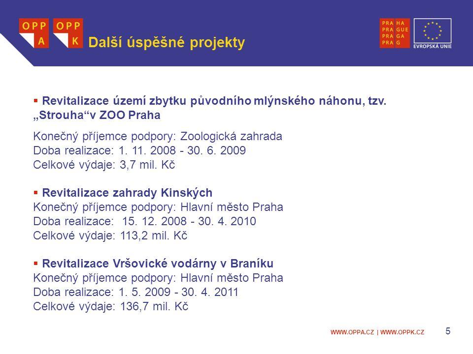 WWW.OPPA.CZ | WWW.OPPK.CZ 6 Praha a fondy EU 2007 - 2013 Praha → bohatý region → nízké dotace z EU → 2 Operační programy (OP) Praha Adaptabilita (OPPA) Alokace 127,5 mil.