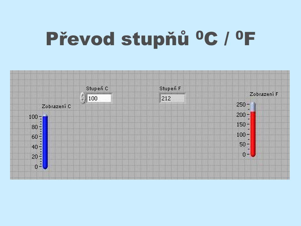 Převod stupňů 0 C / 0 F