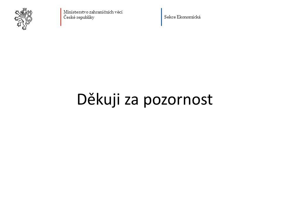 Ministerstvo zahraničních věcí České republiky Sekce Ekonomická Děkuji za pozornost