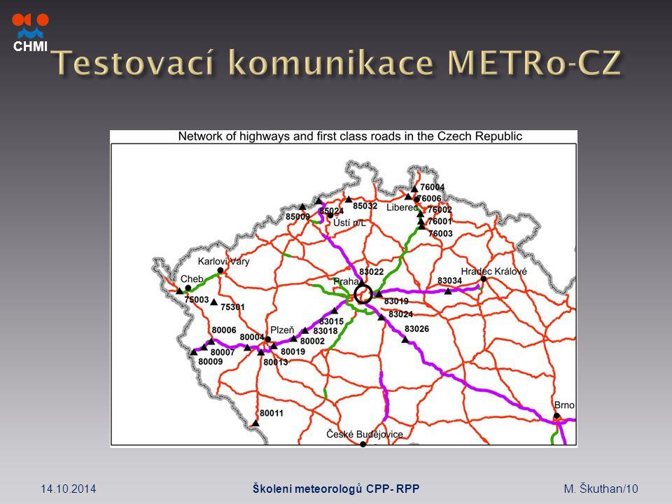 CHMI 14.10.2014M. Škuthan/10Školeni meteorologů CPP- RPP