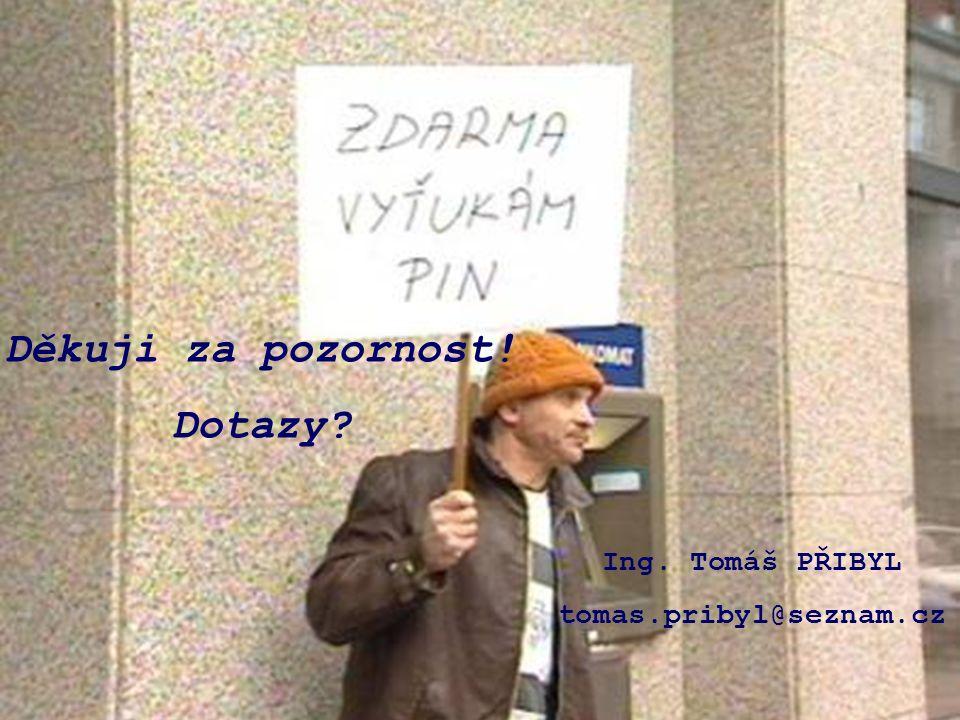 Děkuji za pozornost! Dotazy? Ing. Tomáš PŘIBYL tomas.pribyl@seznam.cz