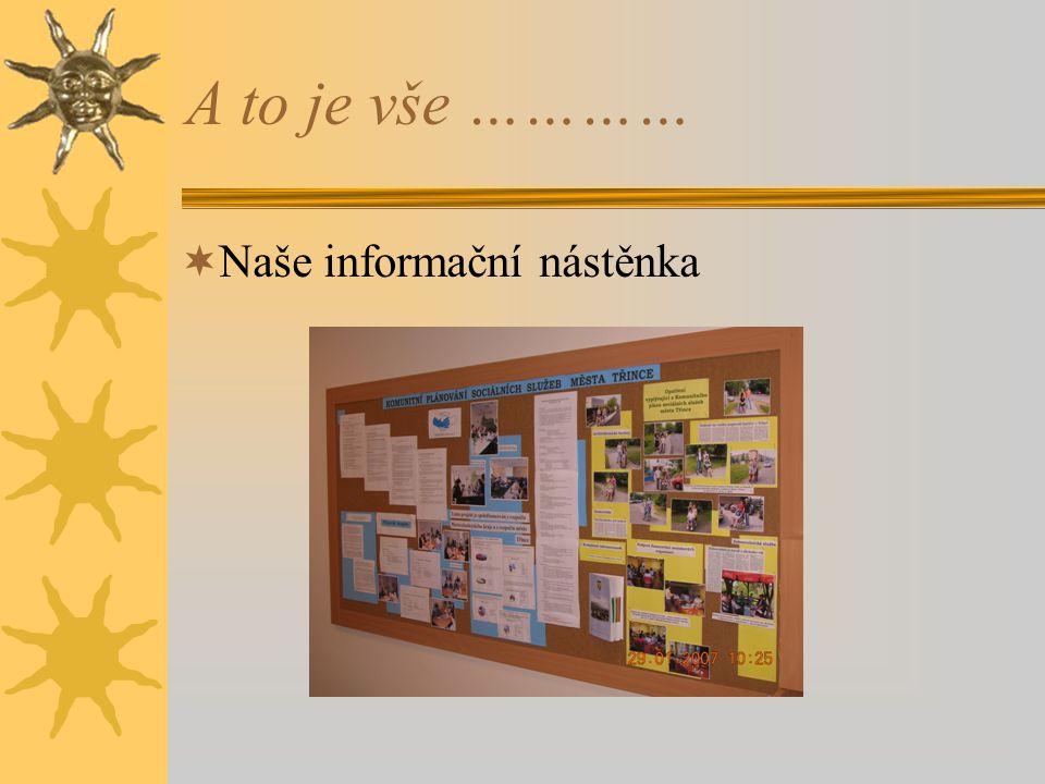 A to je vše …………  Naše informační nástěnka