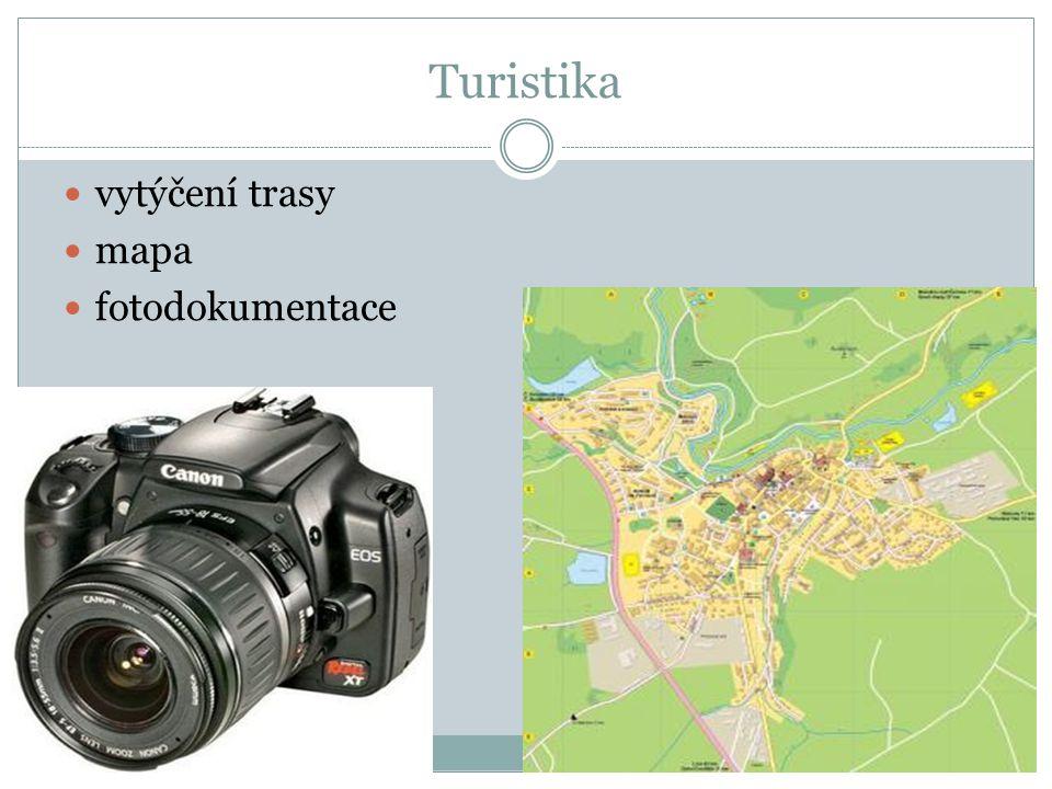 Turistika vytýčení trasy mapa fotodokumentace