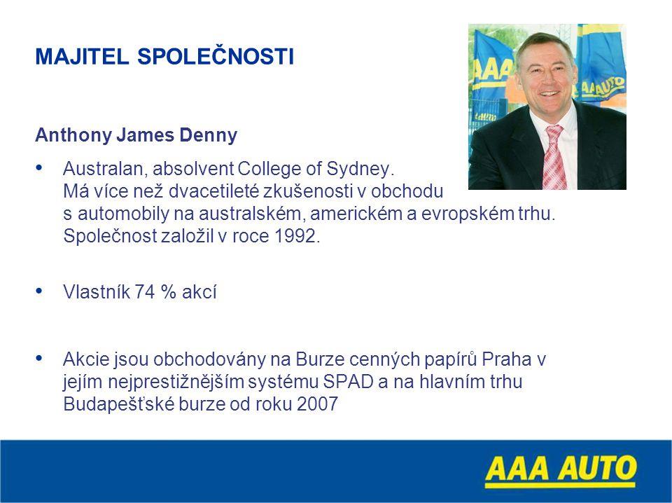 MAJITEL SPOLEČNOSTI Anthony James Denny Australan, absolvent College of Sydney.