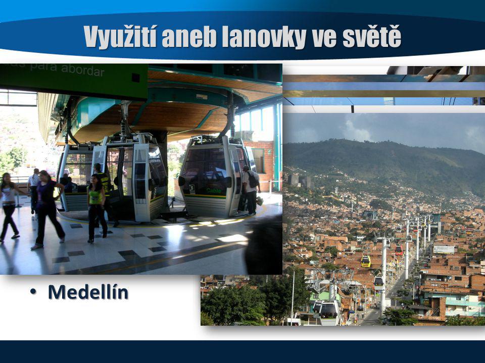 Využití aneb lanovky ve světě Ústí nad Labem Rio de Janeiro Londýn Portland New York Singapore Medellín