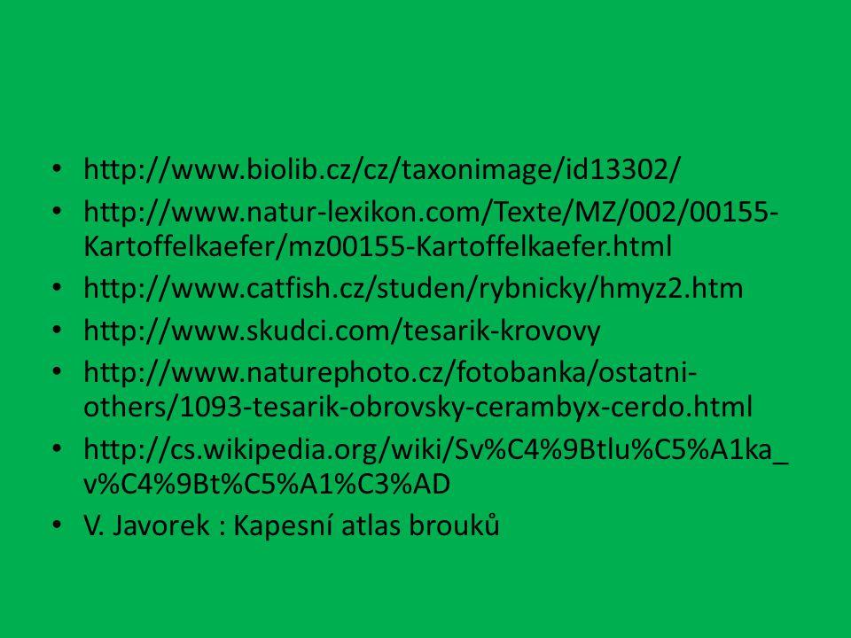 http://www.biolib.cz/cz/taxonimage/id13302/ http://www.natur-lexikon.com/Texte/MZ/002/00155- Kartoffelkaefer/mz00155-Kartoffelkaefer.html http://www.c
