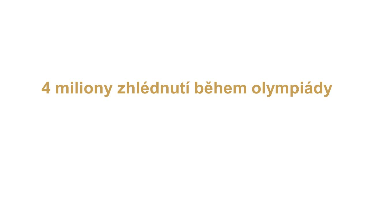 4 miliony zhlédnutí během olympiády