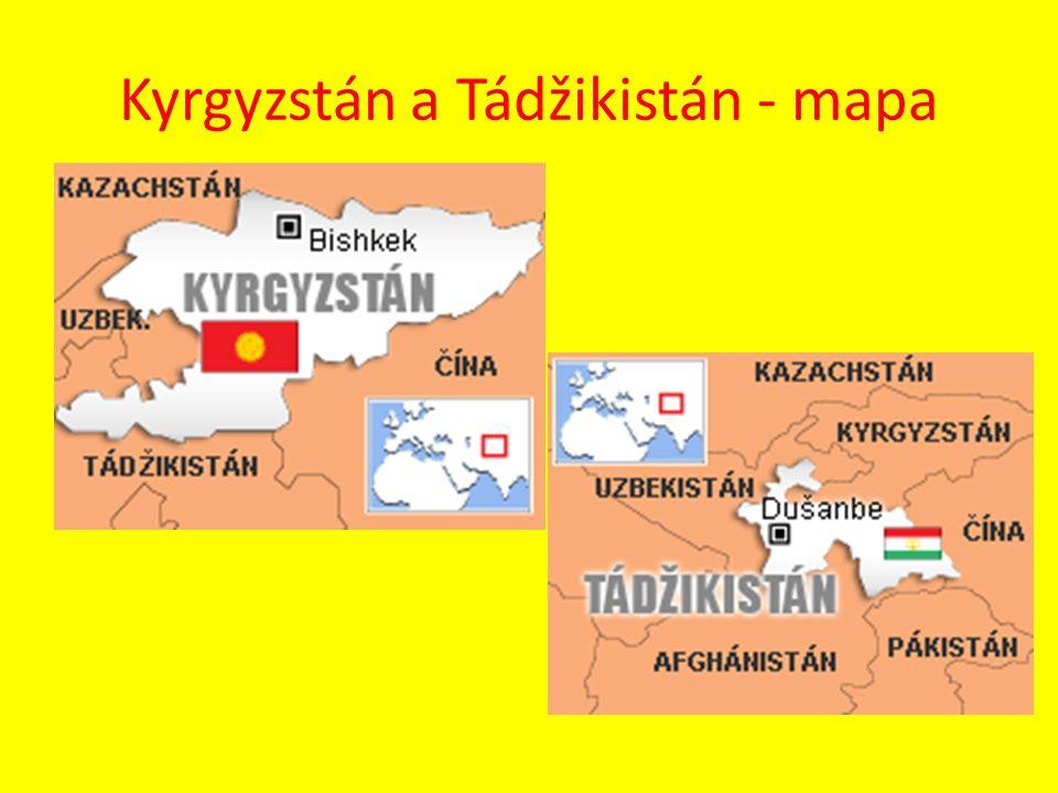 Kyrgyzstán a Tádžikistán - mapa