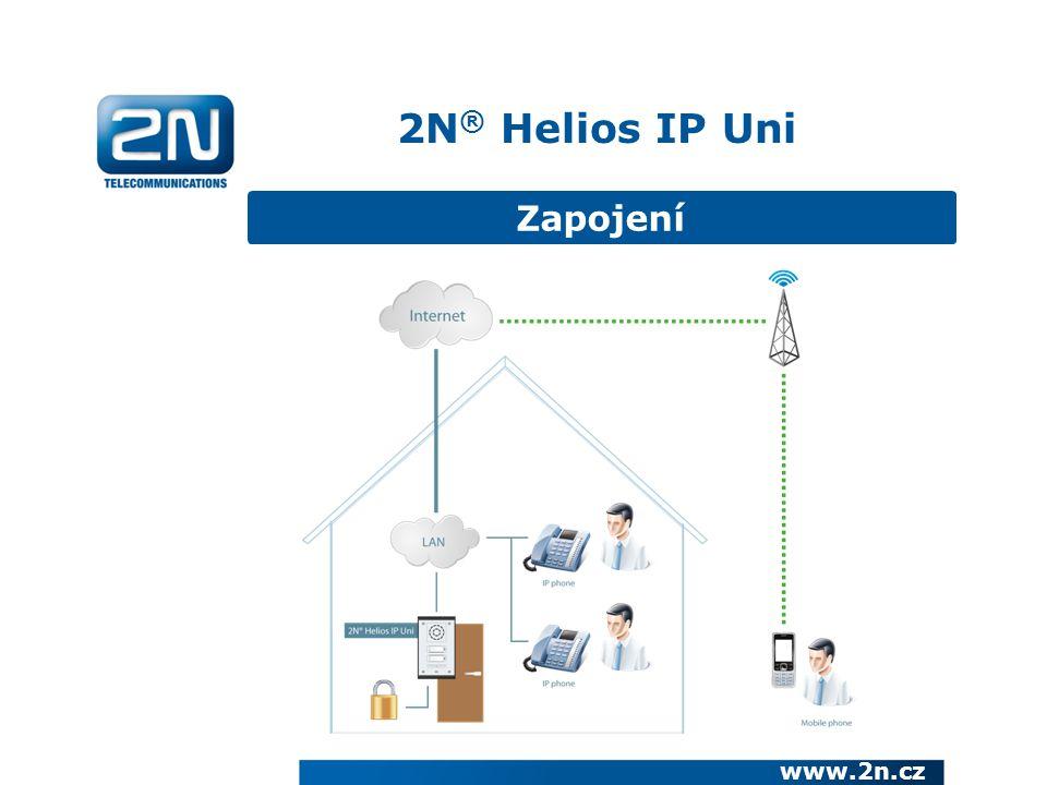 Zapojení 2N ® Helios IP Uni www.2n.cz