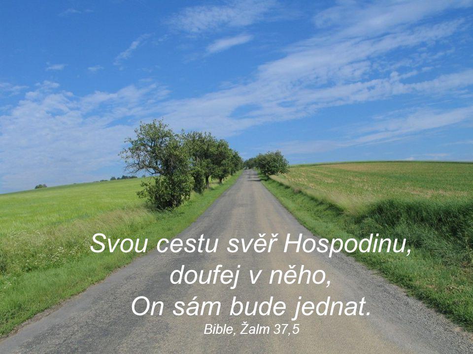 Svou cestu svěř Hospodinu, doufej v něho, On sám bude jednat. Bible, Žalm 37,5