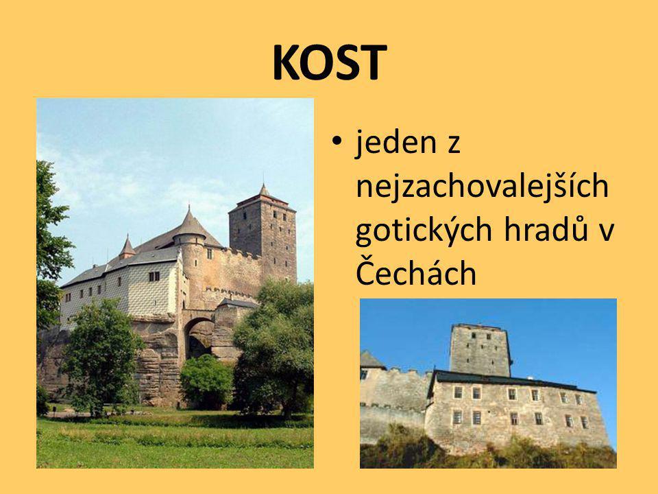 KOST jeden z nejzachovalejších gotických hradů v Čechách