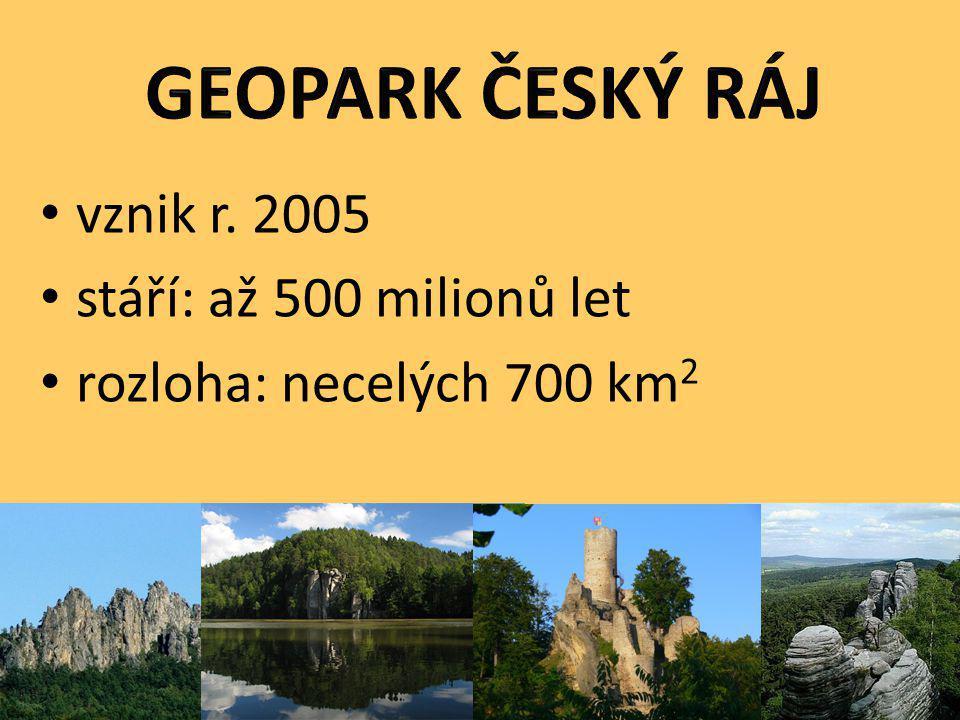 vznik r. 2005 stáří: až 500 milionů let rozloha: necelých 700 km 2