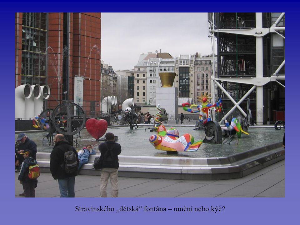 """Stravinského """"dětská fontána – umění nebo kýč?"""