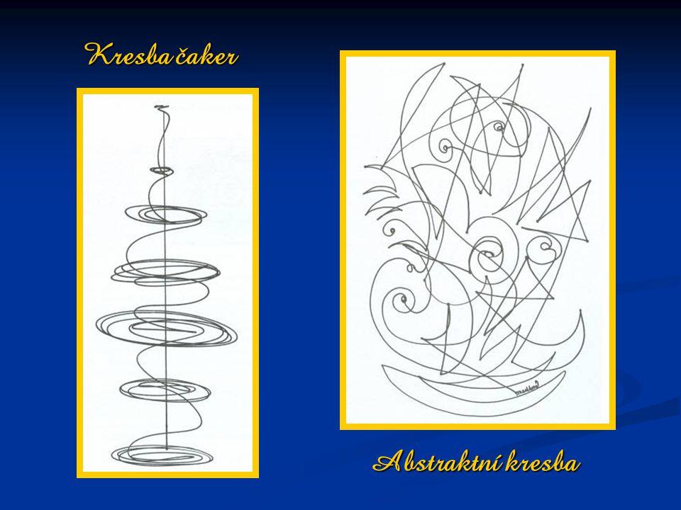 Abstraktní kresba Kresba čaker