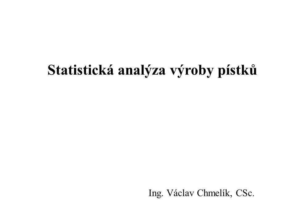 Statistická analýza výroby pístků Ing. Václav Chmelík, CSc.