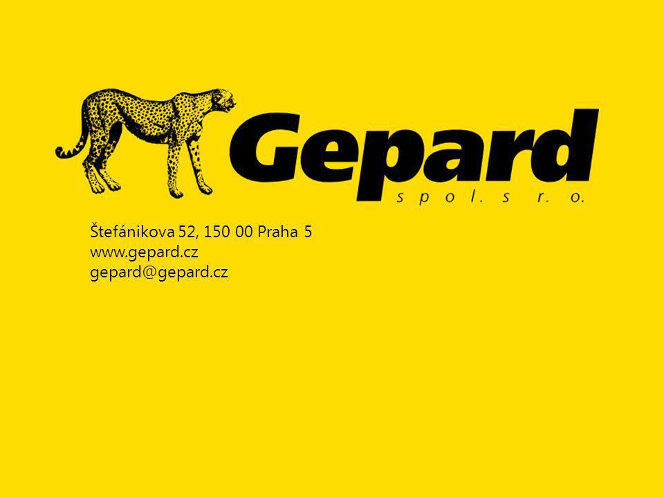Štefánikova 52, 150 00 Praha 5 www.gepard.cz gepard@gepard.cz
