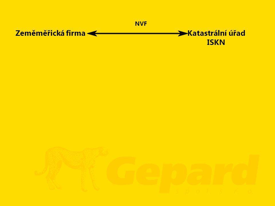 Zeměměřická firmaKatastrální úřad ISKN NVF
