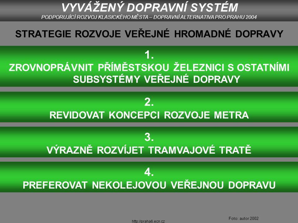 http://praha6.ecn.cz ROZVOJ TRAMVAJOVÉ SÍTĚ VYVÁŽENÝ DOPRAVNÍ SYSTÉM PODPORUJÍCÍ ROZVOJ KLASICKÉHO MĚSTA – DOPRAVNÍ ALTERNATIVA PRO PRAHU 2004