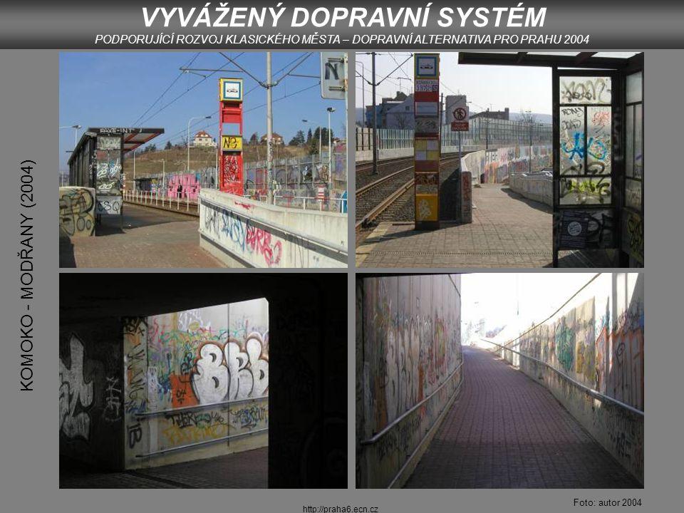 http://praha6.ecn.cz BARRANDOV (2004) Foto: autor 2004 VYVÁŽENÝ DOPRAVNÍ SYSTÉM PODPORUJÍCÍ ROZVOJ KLASICKÉHO MĚSTA – DOPRAVNÍ ALTERNATIVA PRO PRAHU 2004