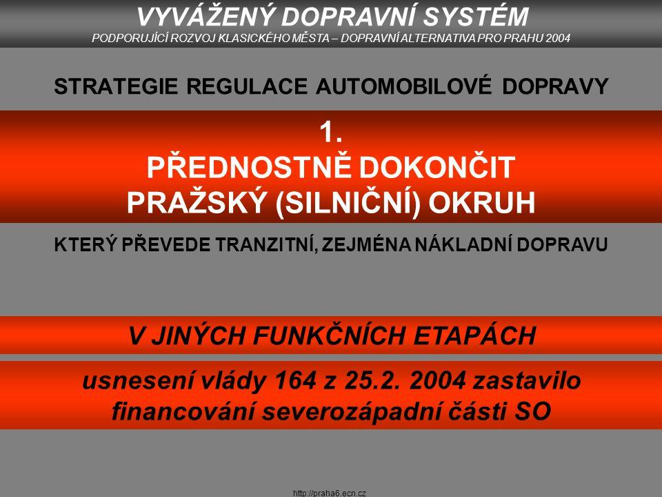 http://praha6.ecn.cz SILNIČNÍ SKELET I.