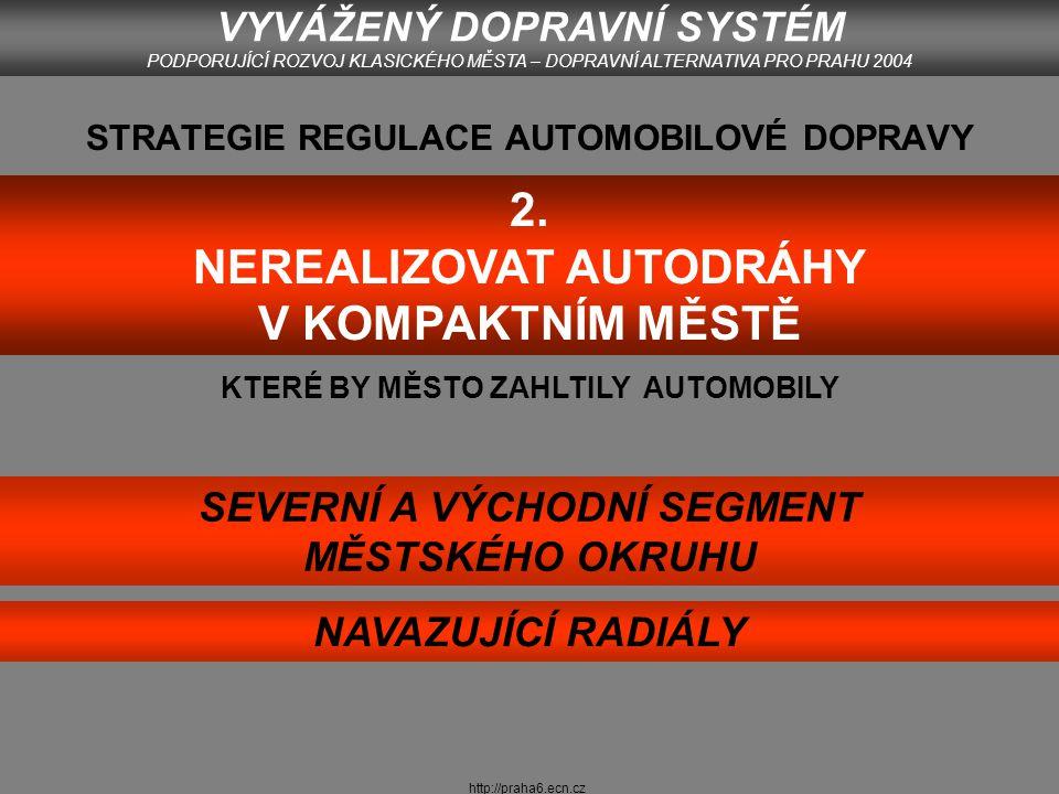 http://praha6.ecn.cz VYVÁŽENÝ DOPRAVNÍ SYSTÉM PODPORUJÍCÍ ROZVOJ KLASICKÉHO MĚSTA – DOPRAVNÍ ALTERNATIVA PRO PRAHU 2004
