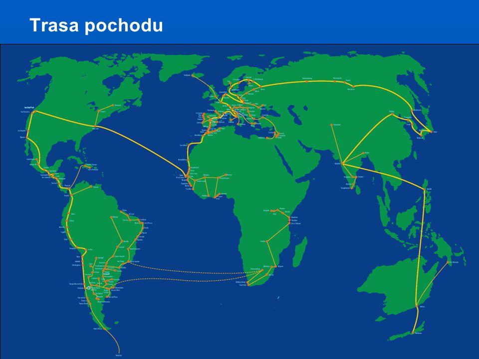 Světový pochod za mír a nenásilí www.SvetovyPochod.cz / www.TheWorldMarch.org Světový pochod za mír a nenásilí www.SvetovyPochod.cz Trasa pochodu