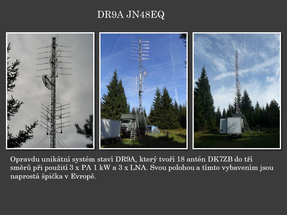 Opravdu unikátní systém staví DR9A, který tvoří 18 antén DK7ZB do tří směrů při použití 3 x PA 1 kW a 3 x LNA.