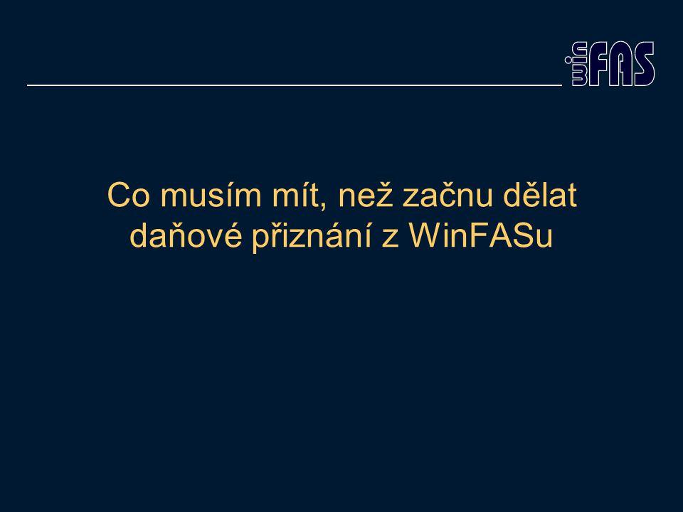 Postup ve WinFASu