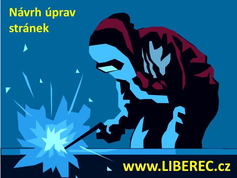 Návrh úprav stránek www.LIBEREC.cz
