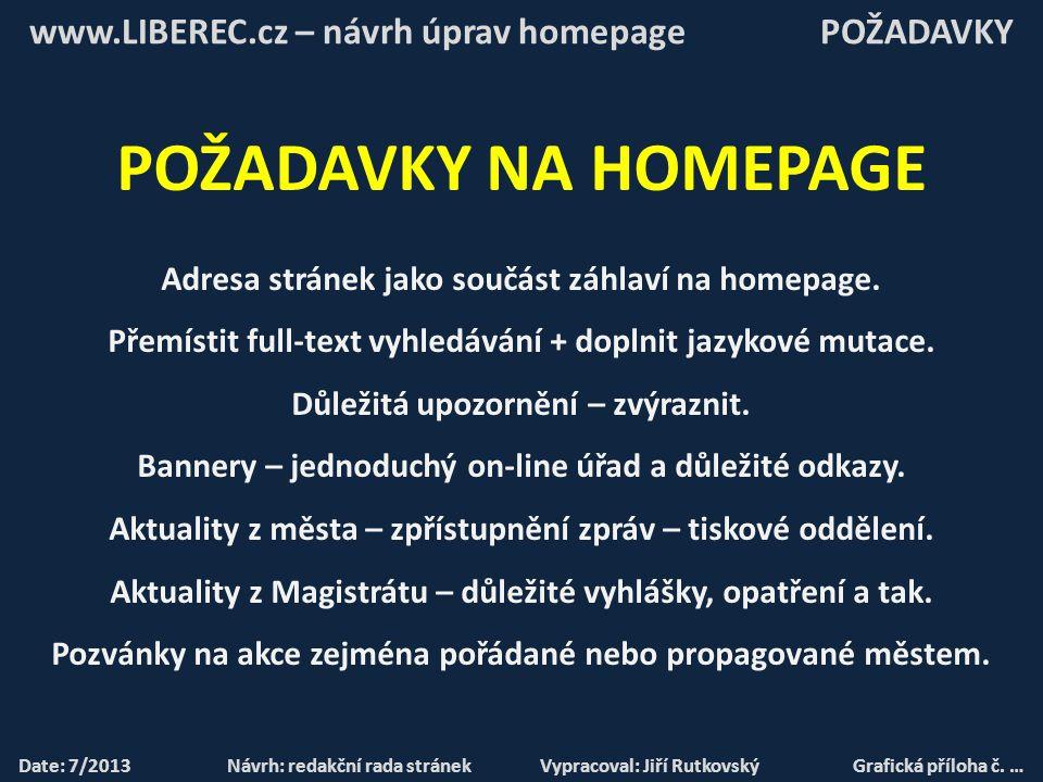 Date: 7/2013 Návrh: redakční rada stránek Vypracoval: Jiří RutkovskýGrafická příloha č.
